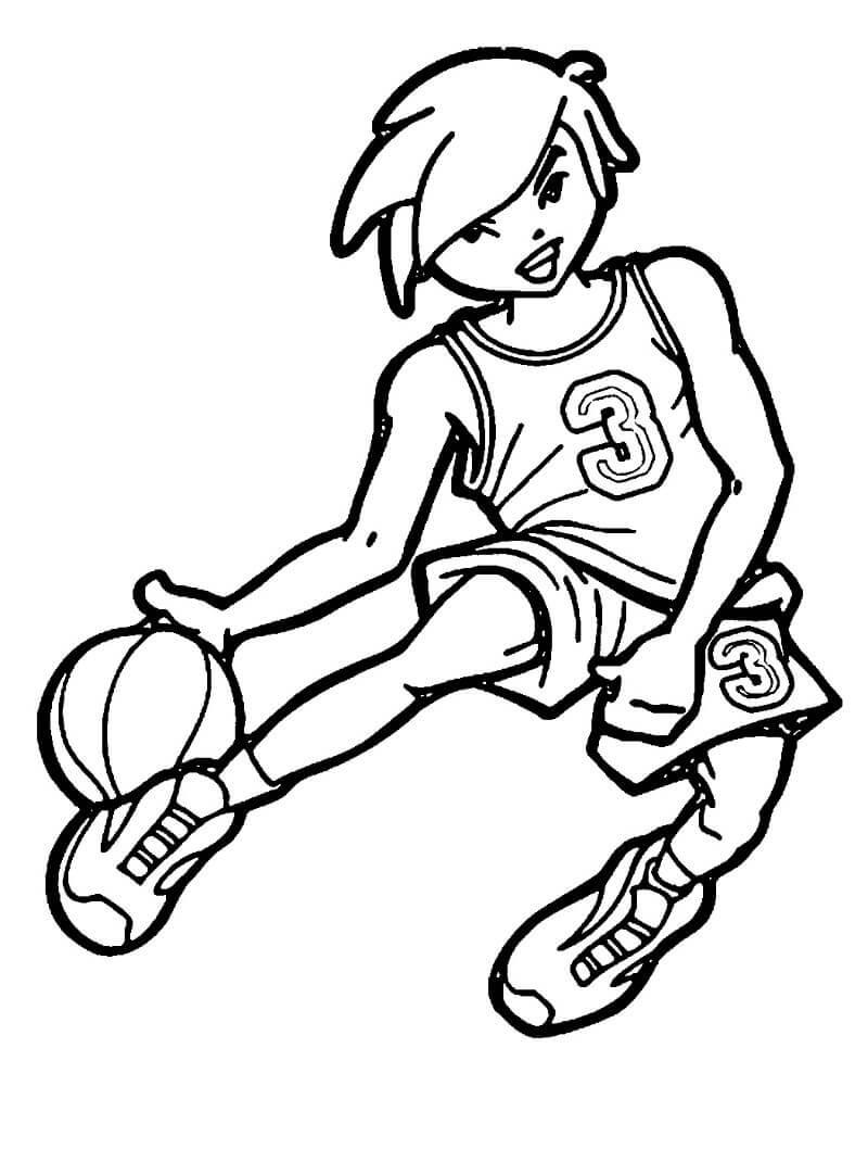 Desenhos de Jogar Basquete para colorir