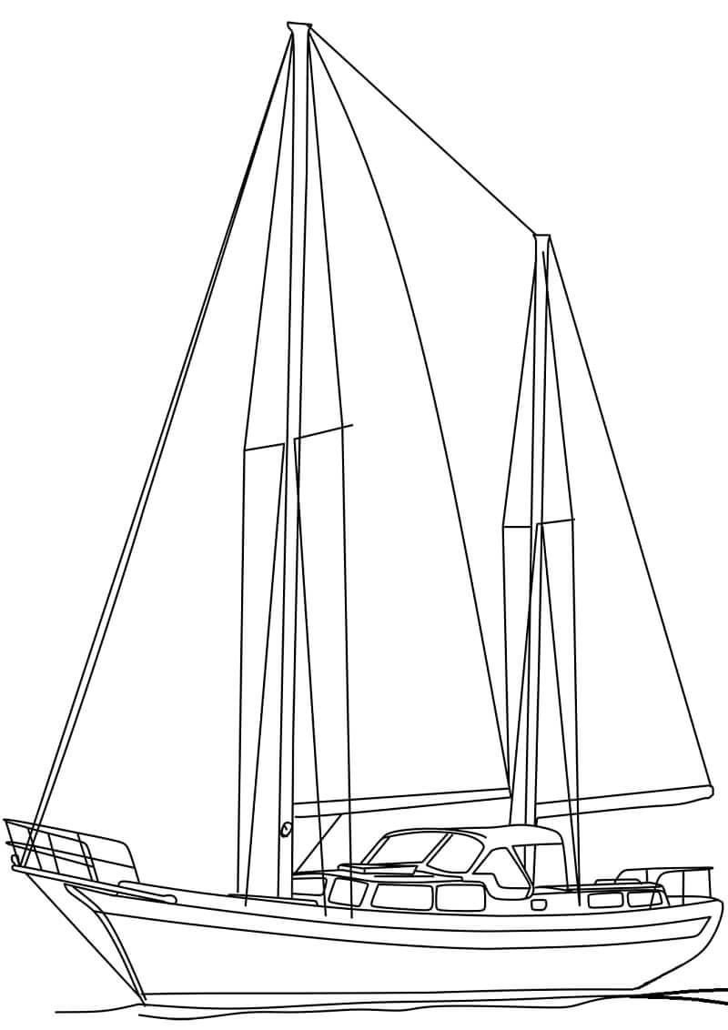 Navio e Barco para Colorir