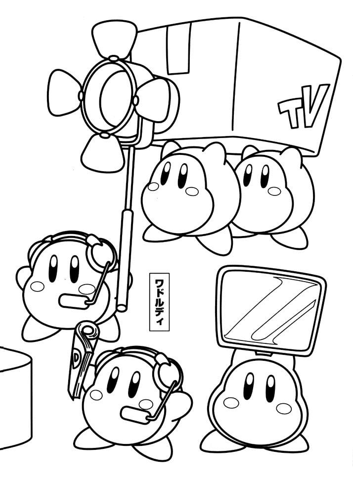Desenhos de Kirby Engraçado para colorir