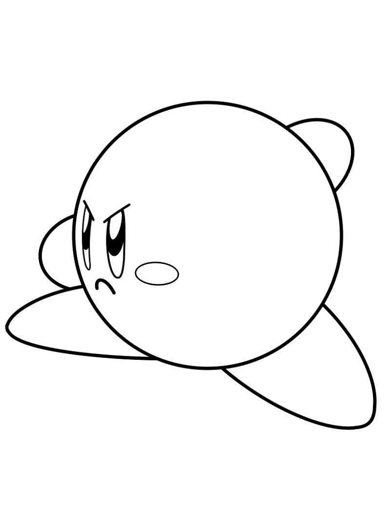 Desenhos de Kirby Zangado para colorir