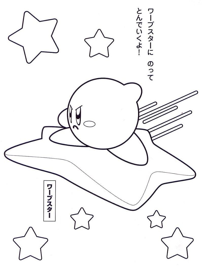 Desenhos de Kirby com Estrelas para colorir