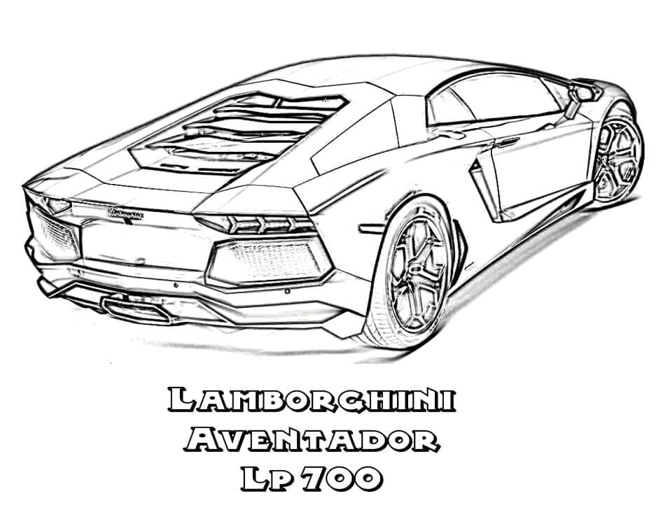 Desenhos de Lamborghini Aventador para colorir