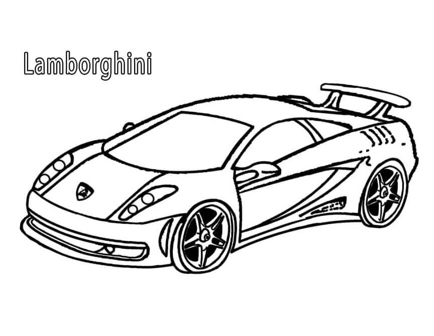 Desenhos de Lamborghini para colorir