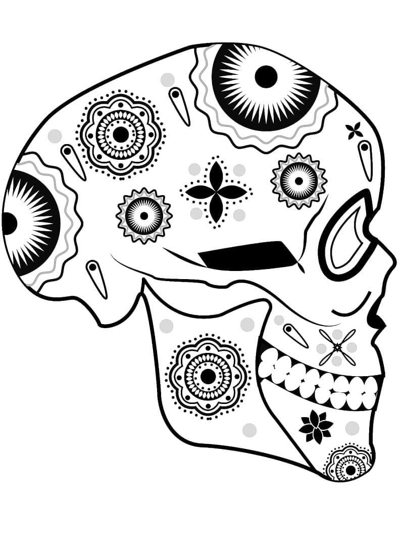 Desenhos de Lateral de Caveira de Açucar para colorir