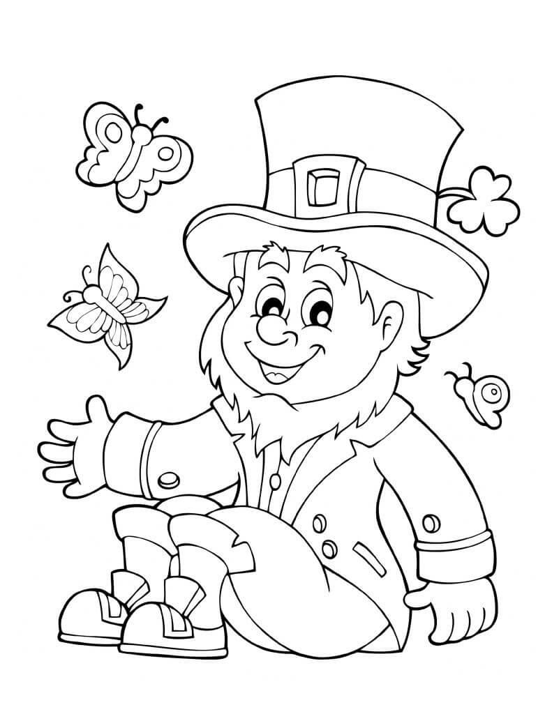 Desenhos de Leprechaun 1 para colorir