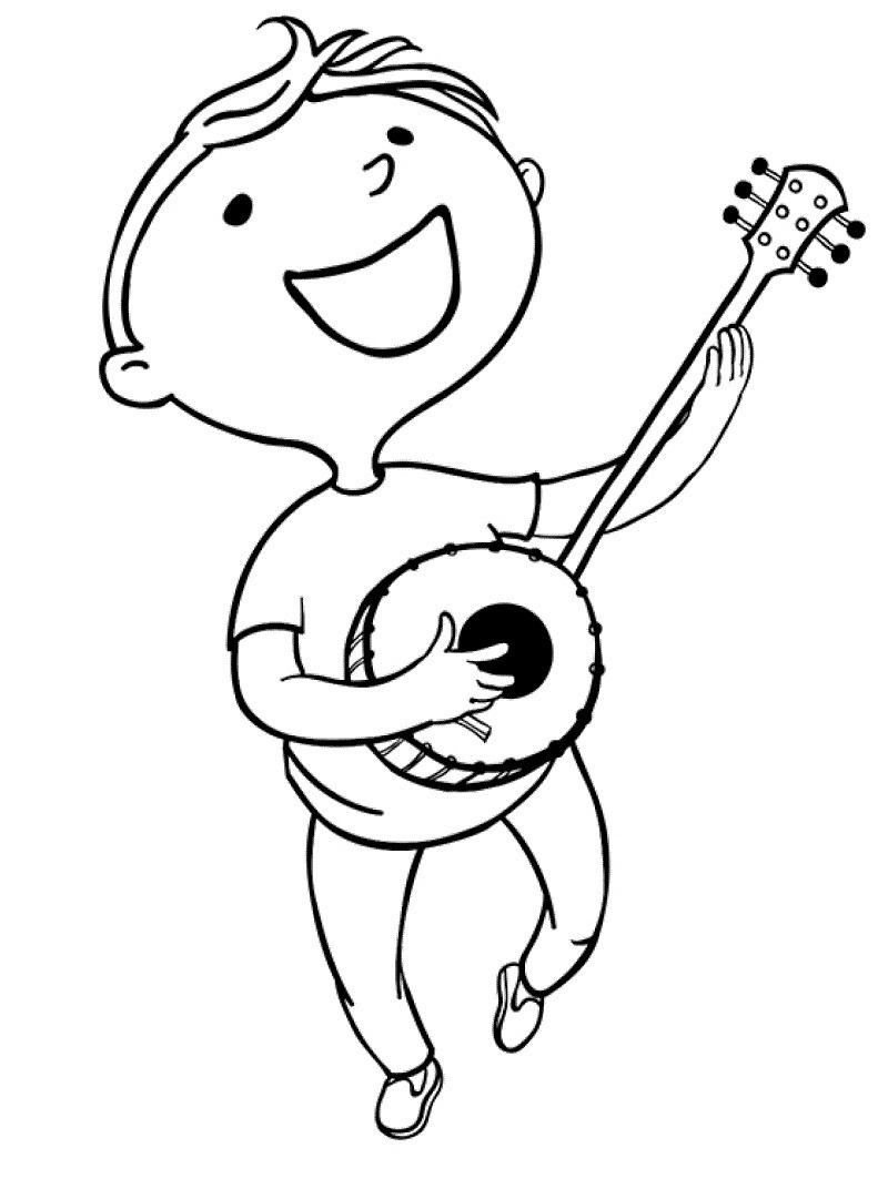 Desenhos de Menino Banjo para colorir