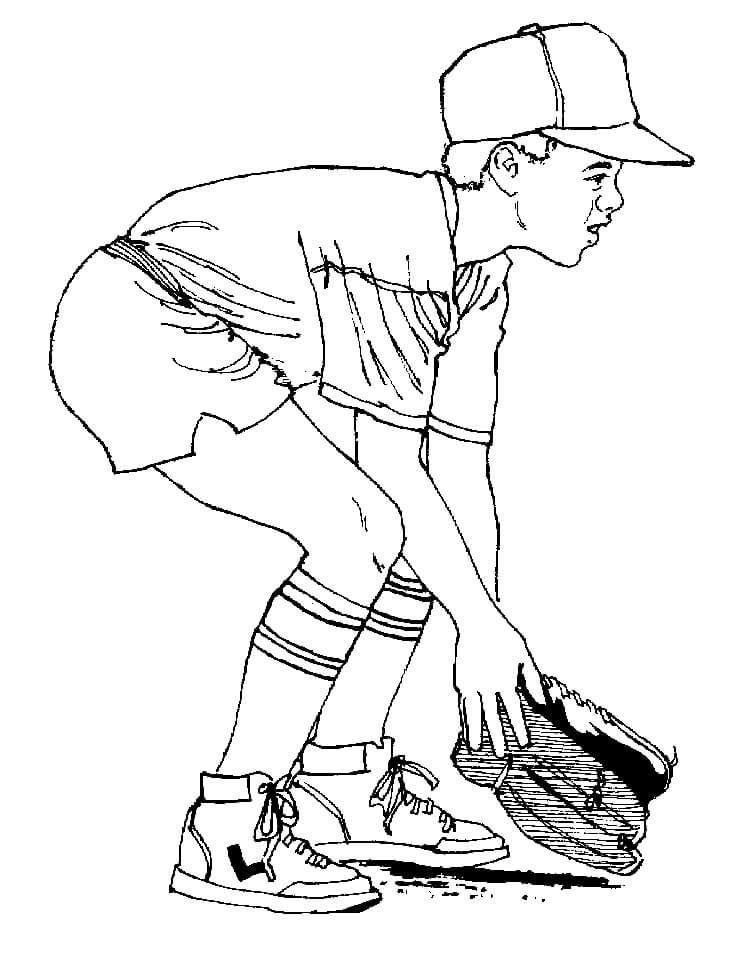 Desenhos de Menino Jogando Beisebol 1 para colorir