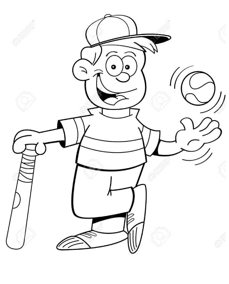 Desenhos de Beisebol para Colorir