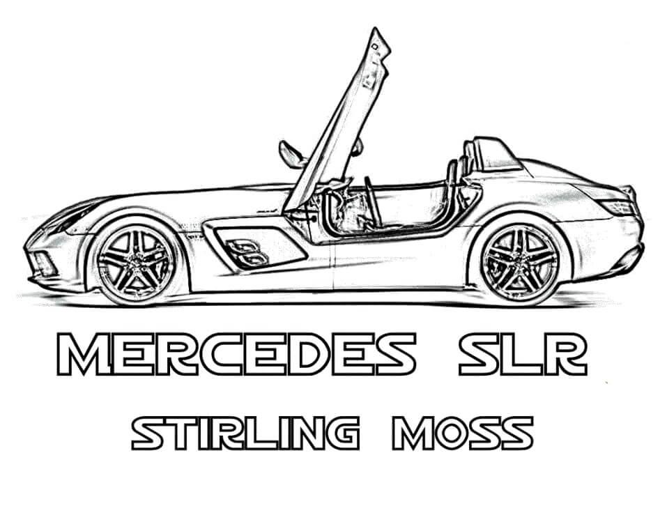 Desenhos de Mercedes SLR para colorir