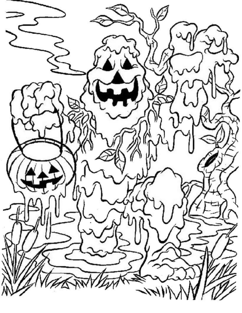 Desenhos de Monstro do Pântano para colorir