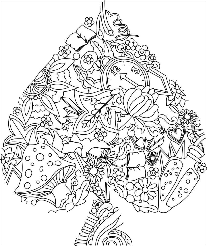 Desenhos de Naipe de Cartas para colorir
