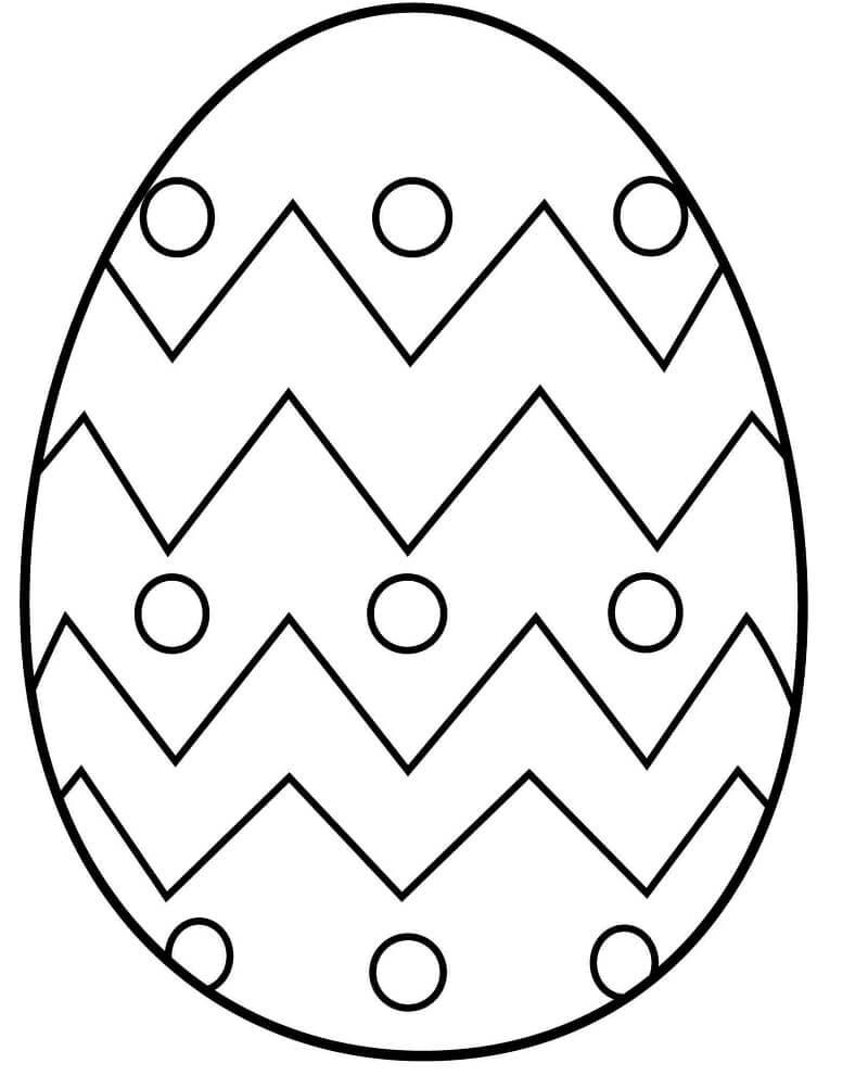 Desenhos de Ovo de Páscoa 1 para colorir