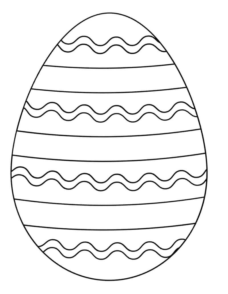 Desenhos de Ovo de Páscoa para colorir