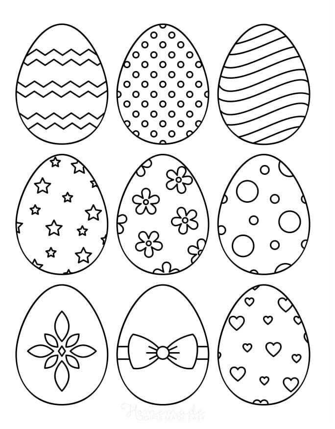 Desenhos de Ovos de Páscoa 1 para colorir