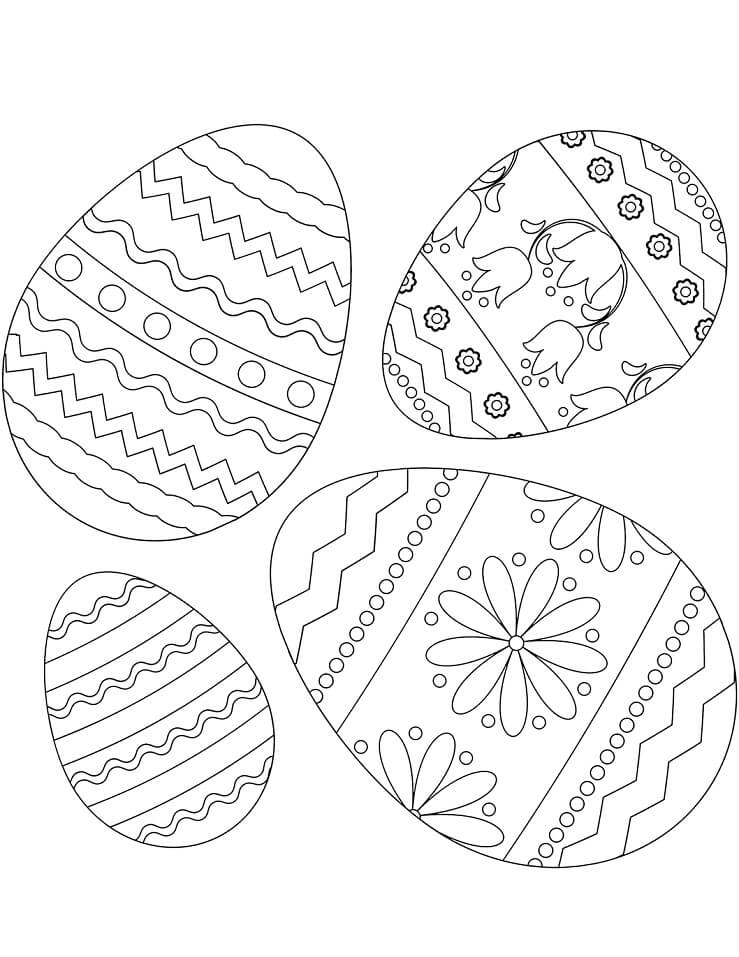Desenhos de Ovos de Páscoa 2 para colorir