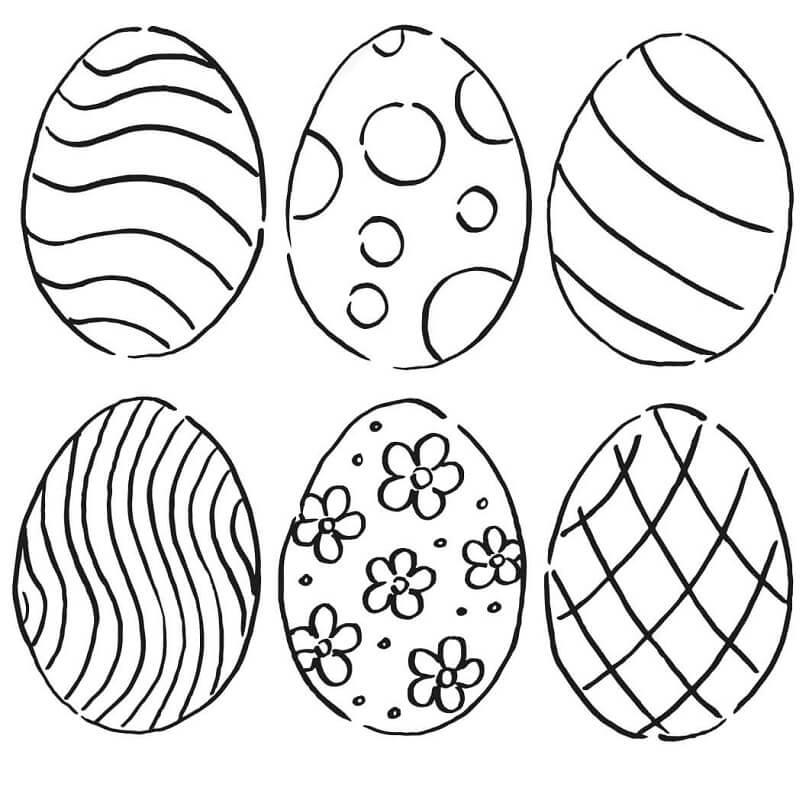 Desenhos de Ovos de Páscoa 3 para colorir