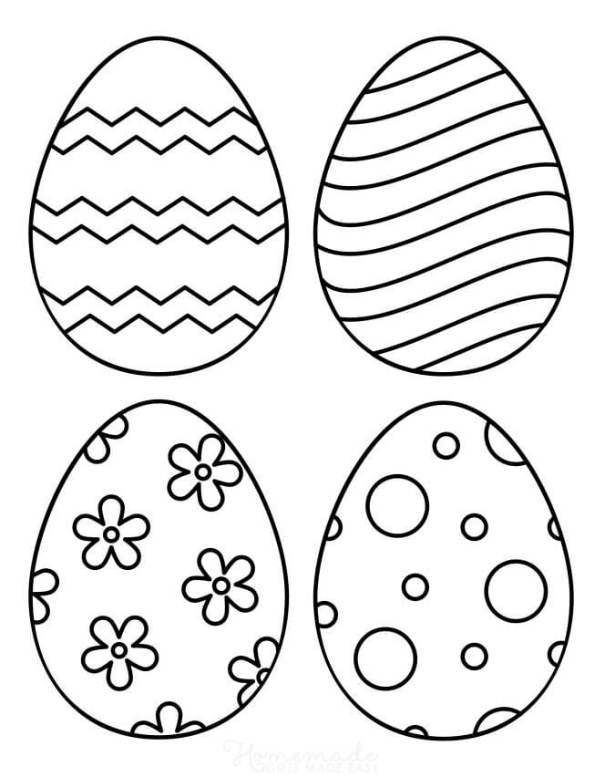Desenhos de Ovos de Páscoa 4 para colorir