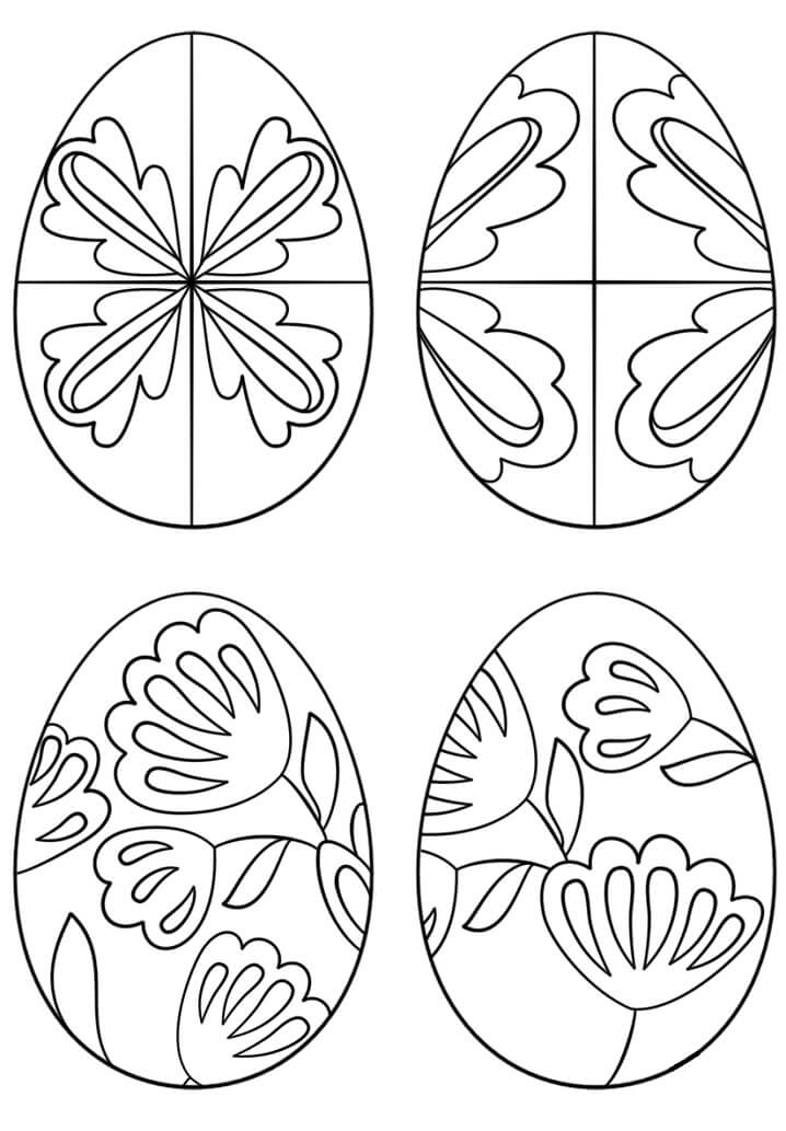 Desenhos de Ovos de Páscoa 5 para colorir