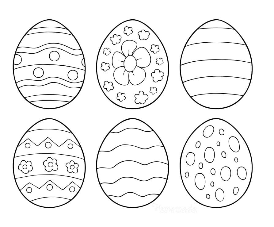 Desenhos de Ovos de Páscoa para colorir