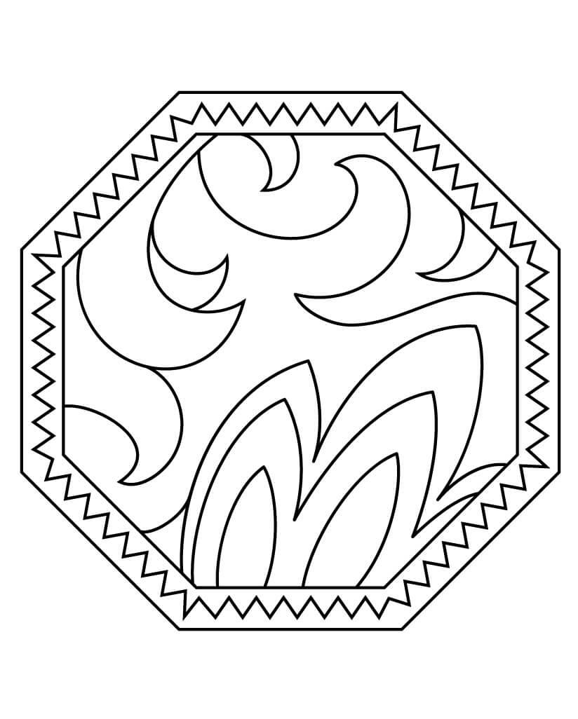 Desenhos de Padrão Abstrato para colorir