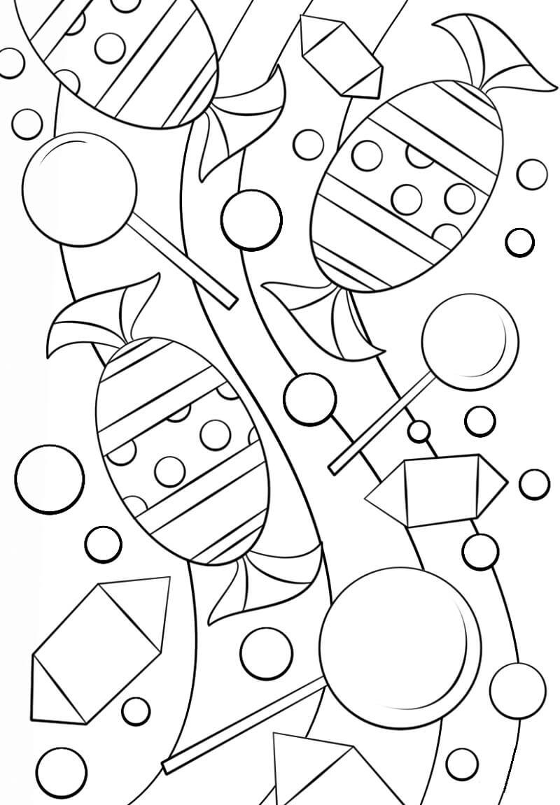 Desenhos de Padrão Doces para colorir