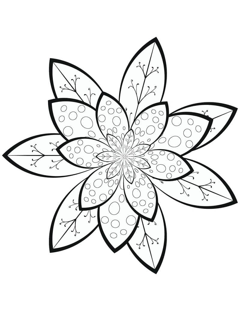 Desenhos de Padrão Floral para colorir