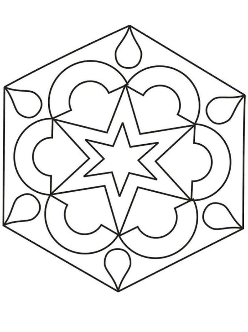 Desenhos de Padrão Geométrico 1 para colorir