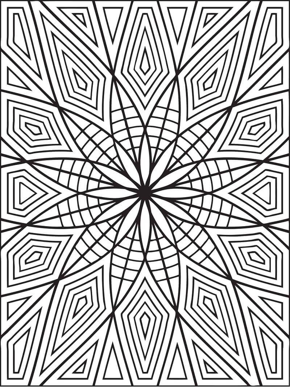 Desenhos de Padrão Geométrico 2 para colorir