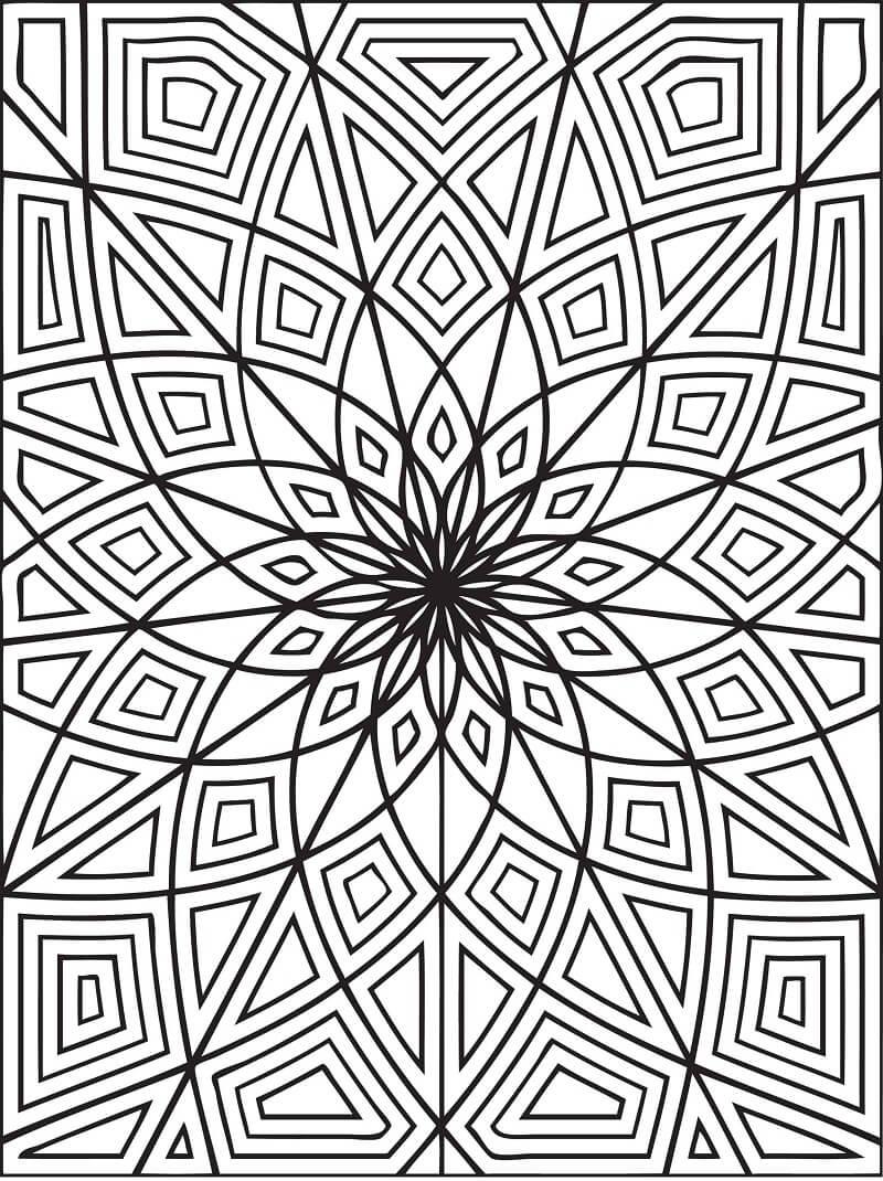 Desenhos de Padrão Geométrico 3 para colorir