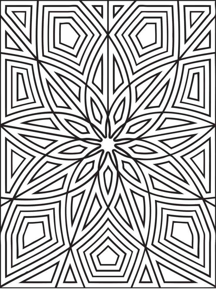 Desenhos de Padrão Geométrico 4 para colorir