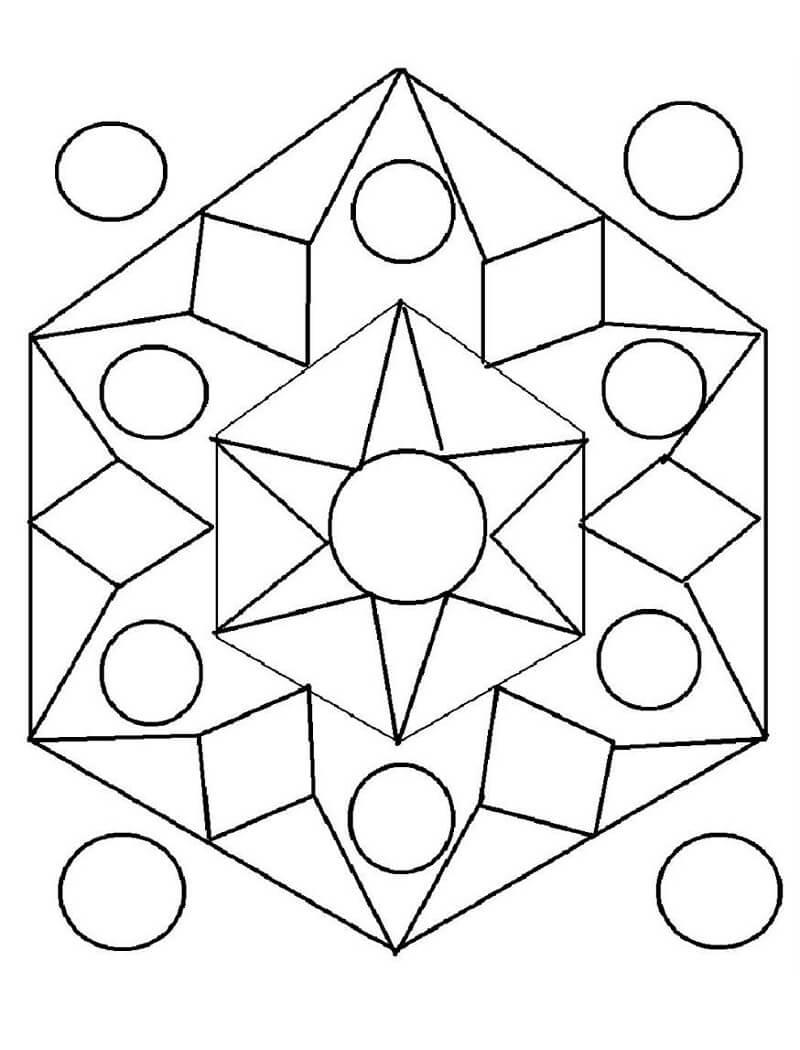 Desenhos de Padrão Geométrico 5 para colorir