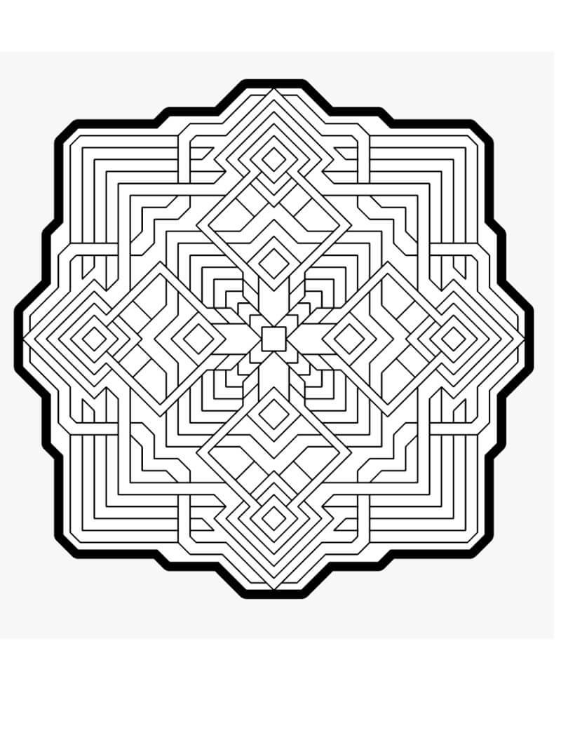 Desenhos de Padrão Geométrico para colorir