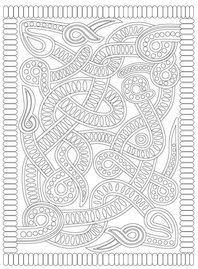 Desenhos de Padrão de Asteca para colorir