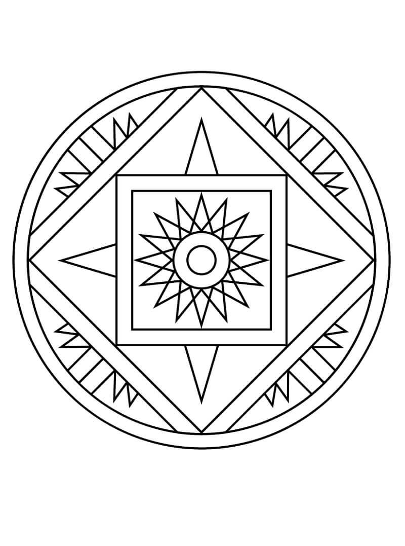 Desenhos de Padrão de Estrela para colorir