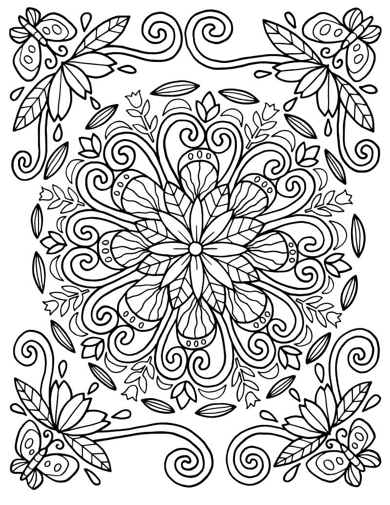 Desenhos de Padrão de Floral para colorir