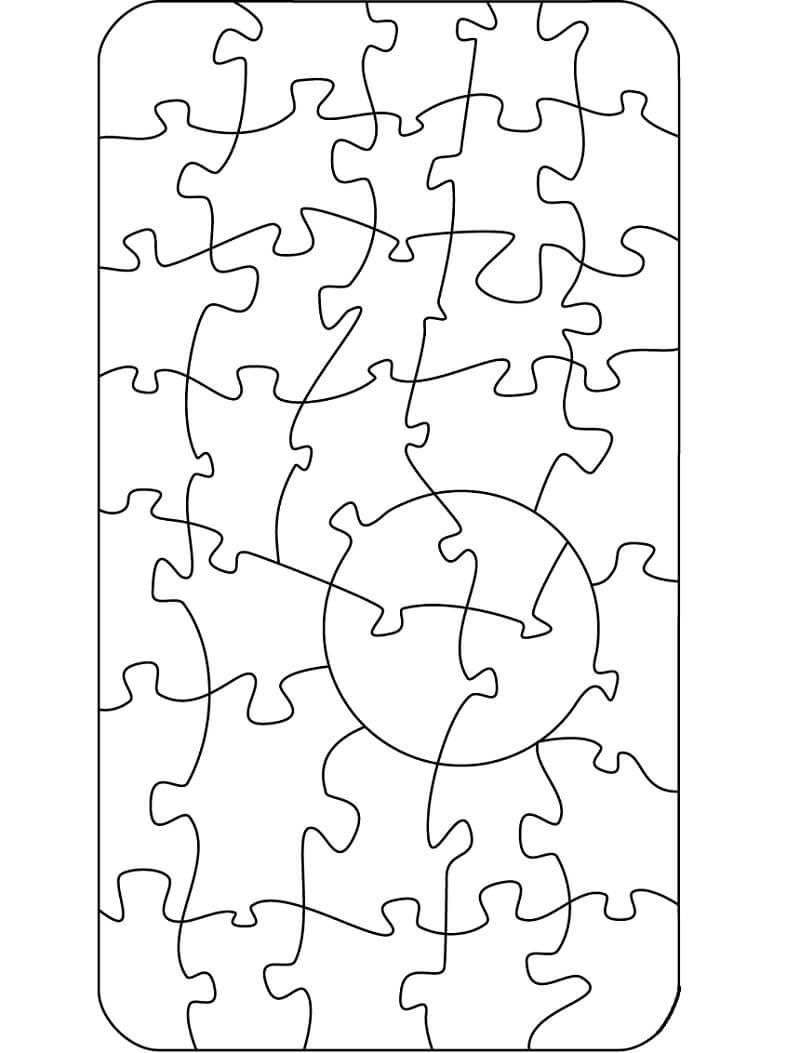 Desenhos de Padrão de Puzzle para colorir