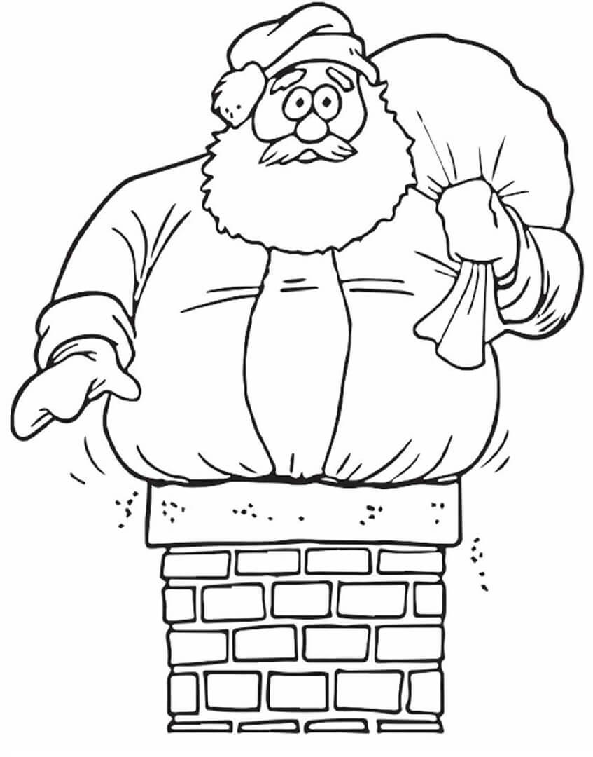 Pai Natal Preso na Chaminé