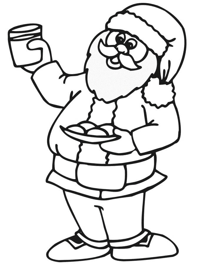 Desenhos de Pai Natal para colorir