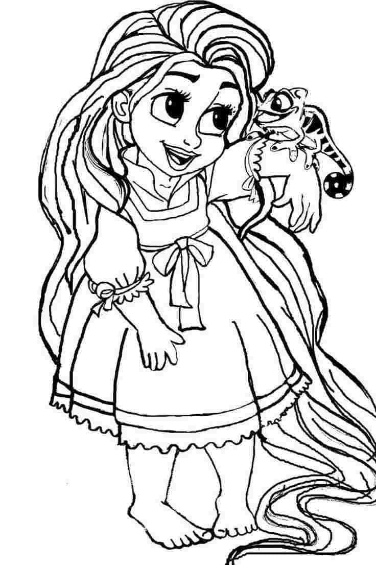 Desenhos de Pequena Rapunzel para colorir