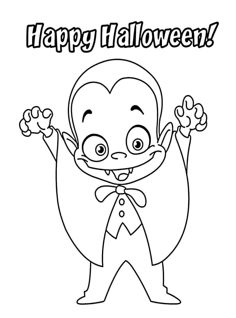 Desenhos de Pequeno Vampiro para colorir