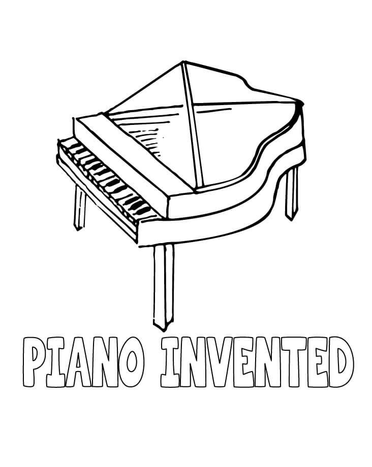 Piano para Colorir