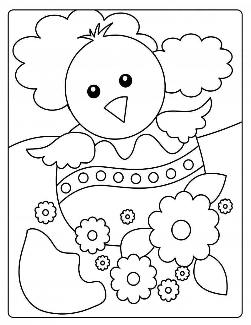 Desenhos de Pintainho da Páscoa para colorir