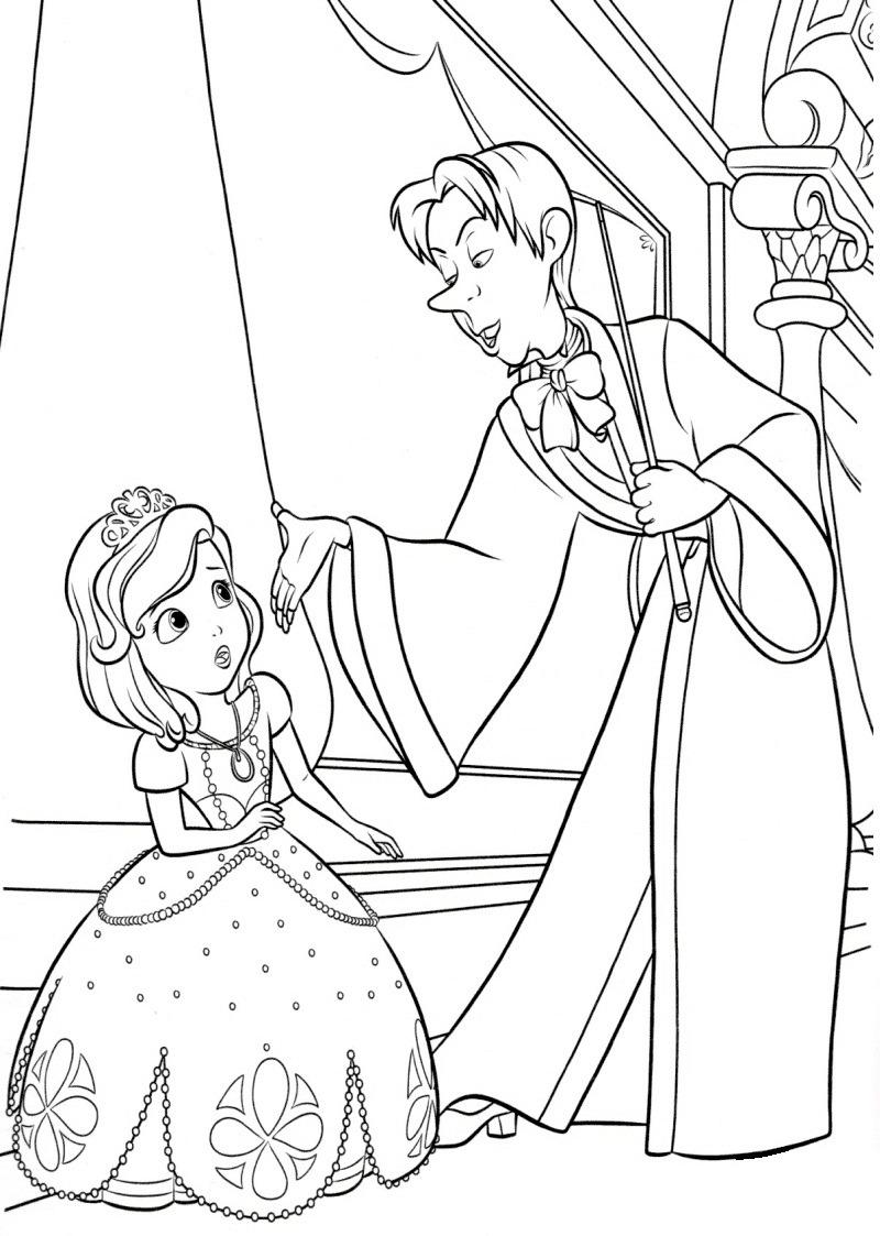 Desenhos de Sofia com Cedric para colorir