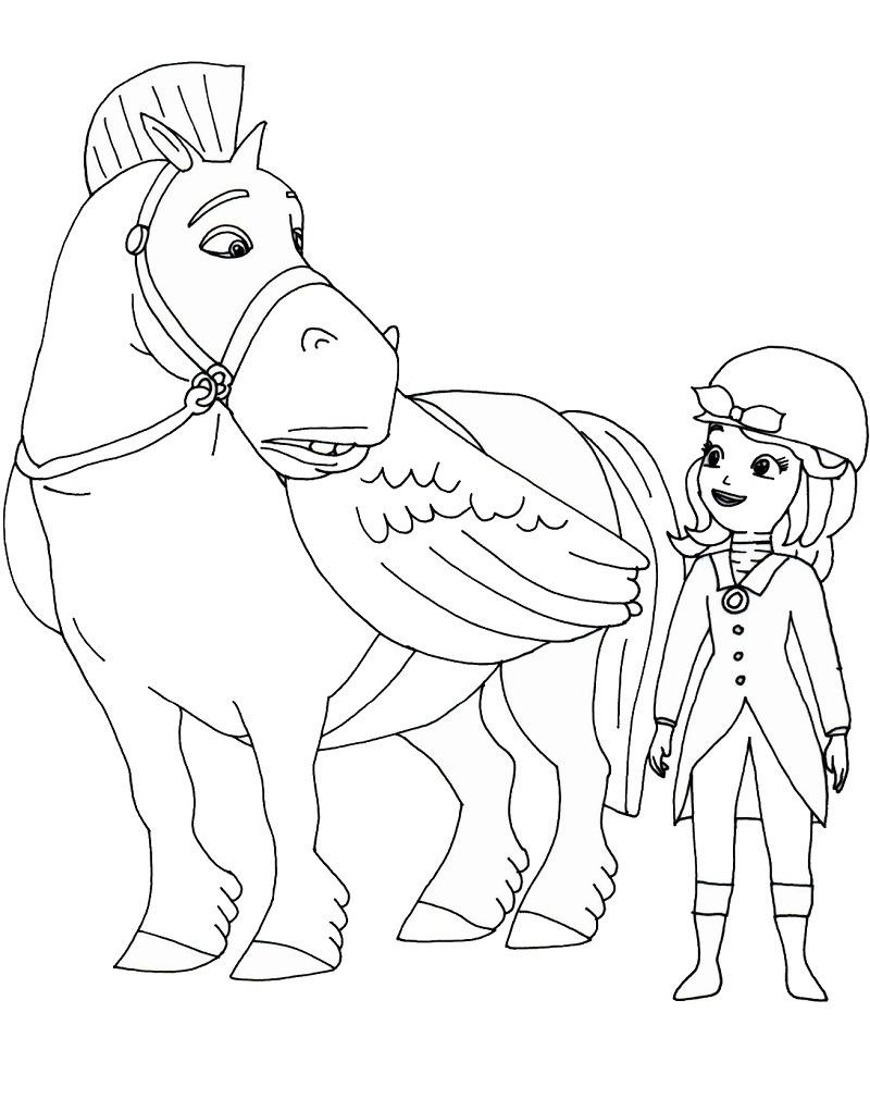 Desenhos de Sofia e Minimus para colorir