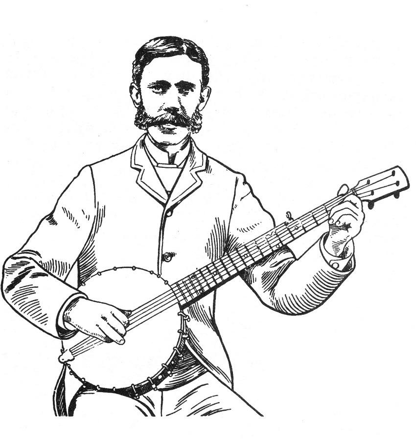 Desenhos de Tocador de Banjo para colorir