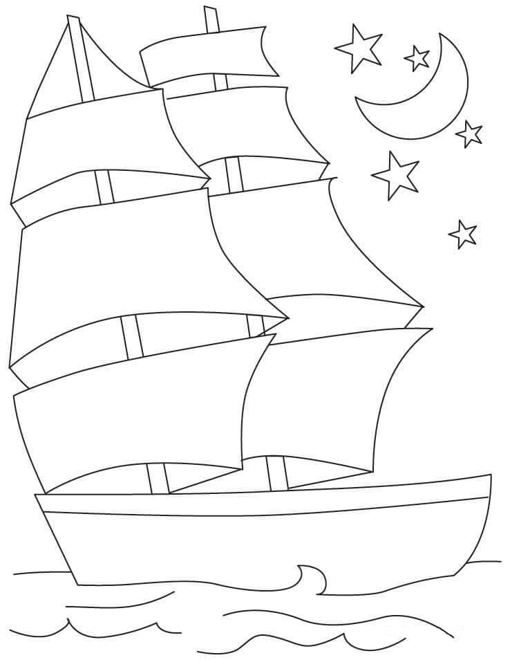 Desenhos de Veleiro para colorir