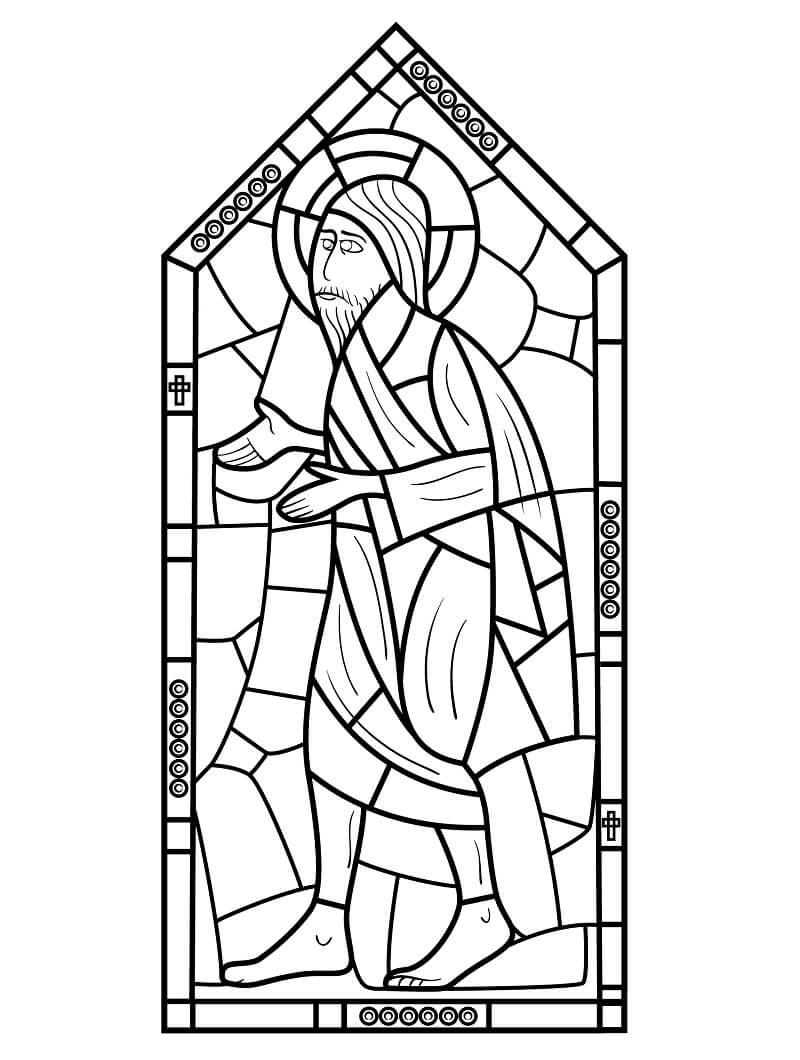Desenhos de Vitral Religioso para colorir