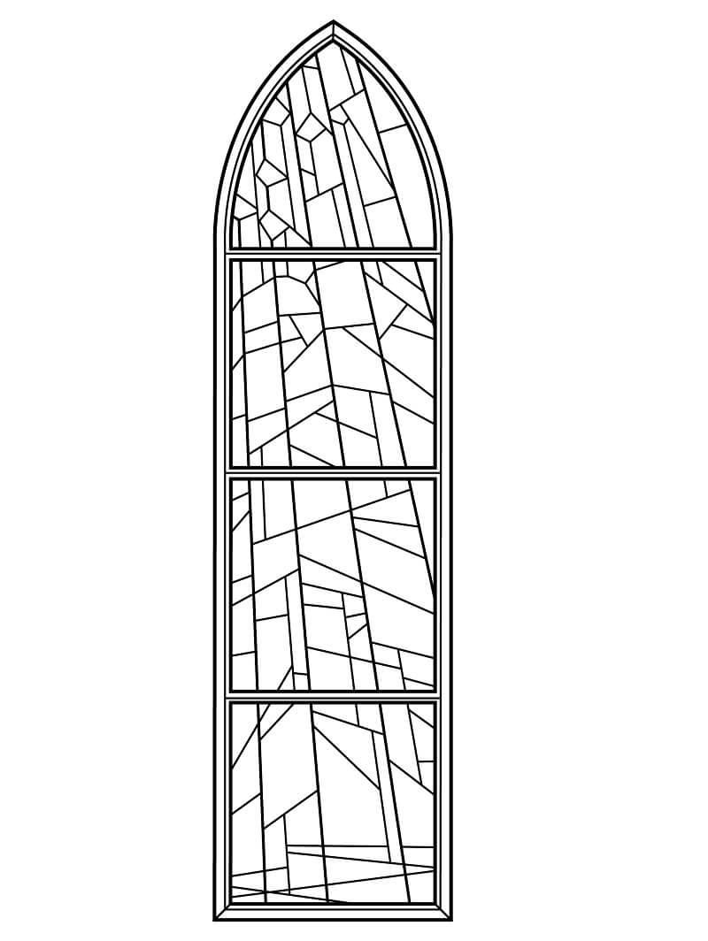 Desenhos de Vitral de Igreja Anglicana para colorir