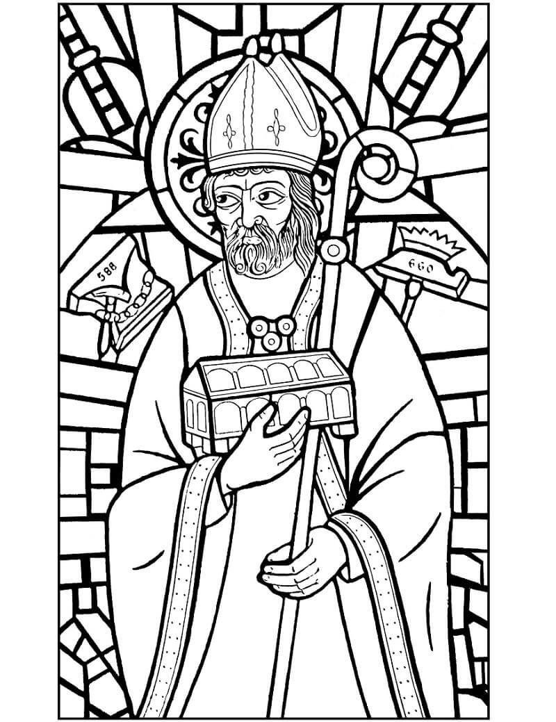 Desenhos de Vitral de Santo Eligio para colorir