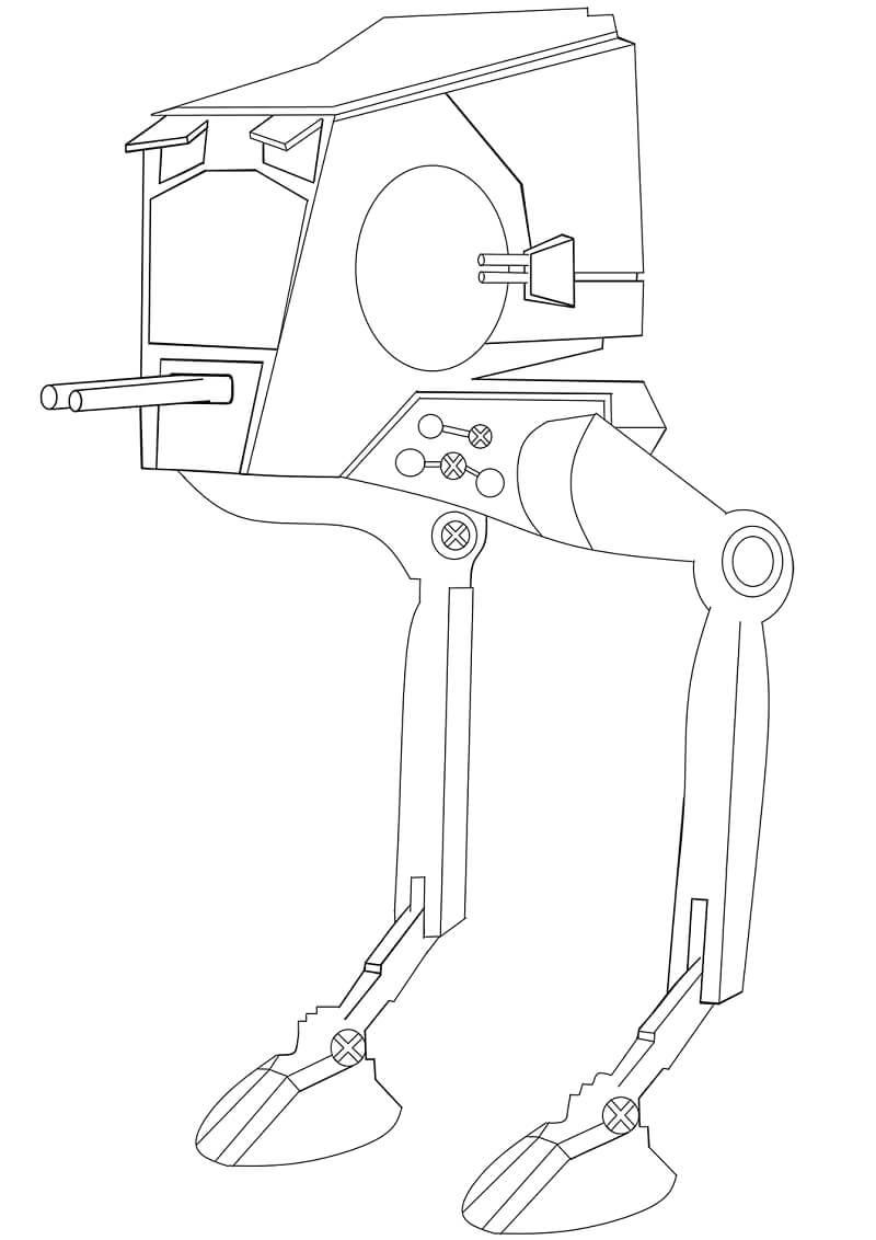 Desenhos de AT-ST para colorir